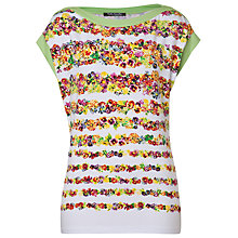 Buy Betty Barclay Floral Striped T-Shirt, Multi Online at johnlewis.com