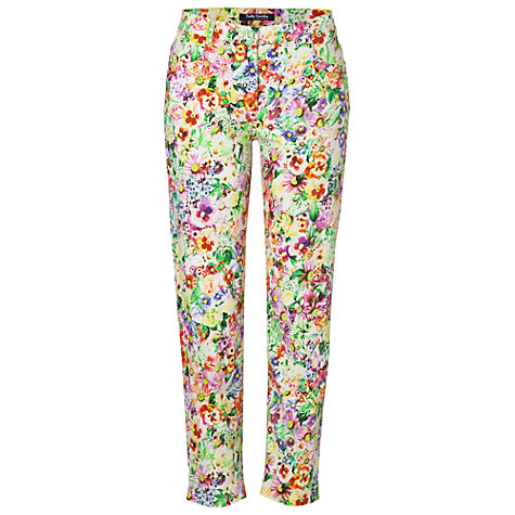 Buy Betty Barclay Floral Printed Jeans, Multi Online at johnlewis.com