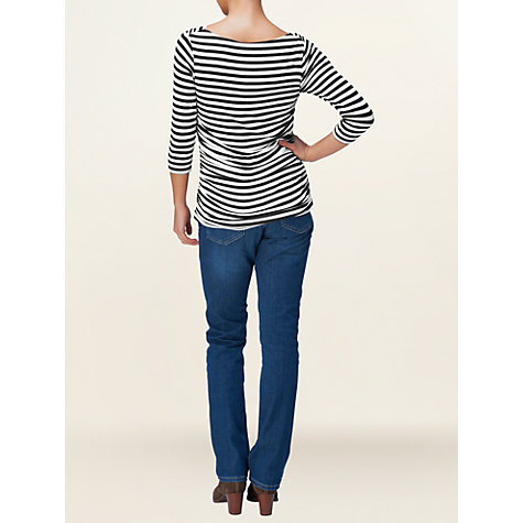 Buy Phase Eight Tallie Top, Navy/Ivory Online at johnlewis.com