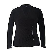 Buy Chesca Wrap Jersey Cardigan, Black Online at johnlewis.com