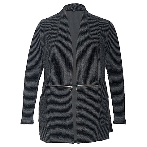 Buy Chesca Striped Cardigan, Charcoal Online at johnlewis.com