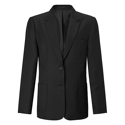 Buy John Lewis Girls' School Eco Blazer, Black Online at johnlewis.com