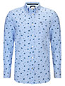 Crew Clothing Long Sleeve Print Shirt, Blue Chambray