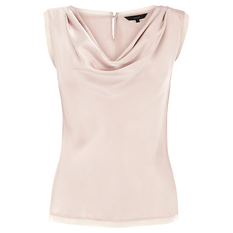 Buy Coast Antoinetta Top, Pebble Online at johnlewis.com
