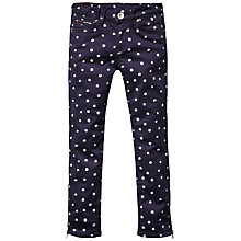 Buy Tommy Hilfiger Girls' Natalie Zipped-Leg Spotted Trousers, Navy/White Online at johnlewis.com