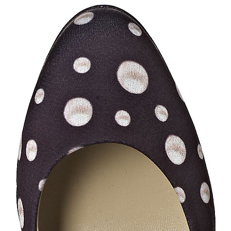 Buy Hobbs Invitation Tiara Polka Dot Fabric Court Shoe, Black/Ivory Online at johnlewis.com