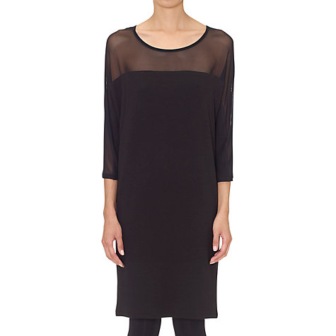 Buy Whistles Sheer Panel Jersey Dress, Black Online at johnlewis.com