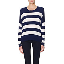 Buy Whistles Betsey Striped Jumper, Navy Online at johnlewis.com