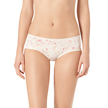 Buy Calvin Klein Seductive Comfort Pressed Glass Hipster Briefs, Cream Online at johnlewis.com