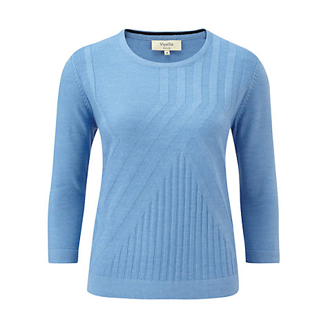 Buy Viyella Petite Rib Jumper, Cornflower Online at johnlewis.com