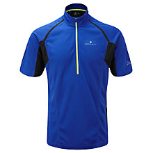 Buy Ronhill Trail Short Sleeve Zip T-Shirt, Blue/Black Online at johnlewis.com