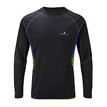 Buy Ronhill Advance Long Sleeve Crew Neck T-Shirt, Black/Blue Online at johnlewis.com
