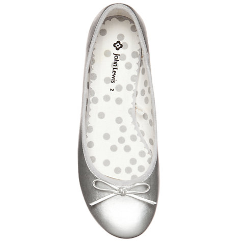 Buy John Lewis Girl Gemma Pumps, Silver Online at johnlewis.com