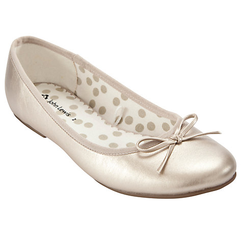 Buy John Lewis Girl Jess Pumps, Gold Online at johnlewis.com