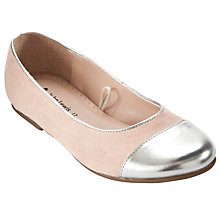 Buy John Lewis Girl Silver Toe Pumps, Pink Online at johnlewis.com
