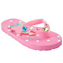 Buy John Lewis Girl Mermaid Flip Flops, Pink Online at johnlewis.com