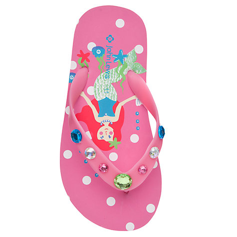 Buy John Lewis Girl Mermaid Spotted Swimsuit, Pink Online at johnlewis.com