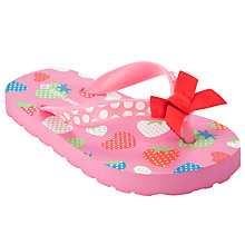Buy John Lewis Girl Strawberry Flip Flops Online at johnlewis.com
