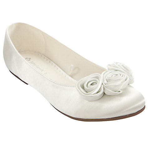 Buy John Lewis Girl Triple Rose Bud Strapless Bridesmaid Shoes, Ivory Online at johnlewis.com