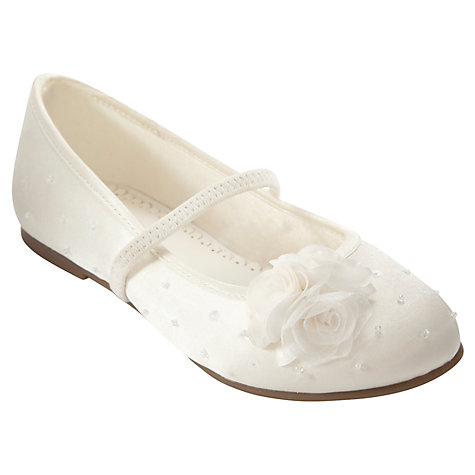 Buy John Lewis Girl Rose Sequin Bridesmaid Shoes, Ivory Online at johnlewis.com