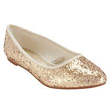 Buy John Lewis Girl Glitter Pointed Pumps Online at johnlewis.com