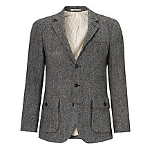 Buy JOHN LEWIS & Co. Herringbone Blazer, Charcoal Online at johnlewis.com