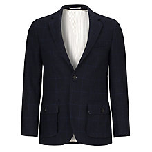 Buy JOHN LEWIS & Co. Harris Tweed Check Blazer, Navy Online at johnlewis.com