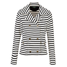 Buy Lauren by Ralph Lauren Double Breasted Pea Coat, Ivory/Navy Online at johnlewis.com