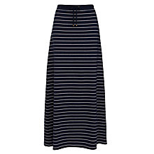 Buy Lauren by Ralph Lauren Flared Maxi Skirt, Navy/Ivory Online at johnlewis.com