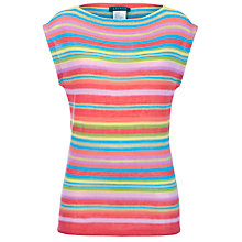 Buy Lauren by Ralph Lauren Dropped Shoulder Stripe Top Online at johnlewis.com