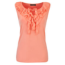Buy Lauren by Ralph Lauren Woven Ruffle Top, Bright Tigerlilly Online at johnlewis.com