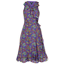 Buy Lauren by Ralph Lauren Taissa Wrap Dress, Purple Online at johnlewis.com