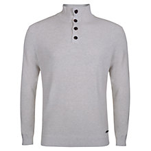 Buy Henri Lloyd Button Neck Cotton Jumper Online at johnlewis.com