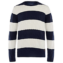 Buy Henri Lloyd Evaine Block Stripe Cotton Jumper, Navy/White Online at johnlewis.com