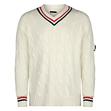 Buy Henri Lloyd Evaine Cricket Stripe Cotton Jumper, Surf Online at johnlewis.com