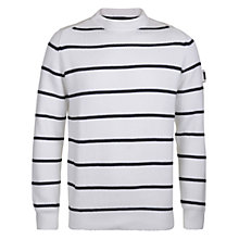 Buy Henri Lloyd Stripe Cotton Jumper, Navy/White Online at johnlewis.com