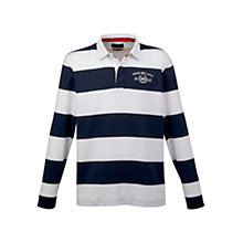 Buy Henri Lloyd Atlanta Stripe Long Sleeve Rugby Shirt, Navy/White Online at johnlewis.com