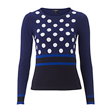 Buy Hobbs Danielle Jumper, Navy Online at johnlewis.com