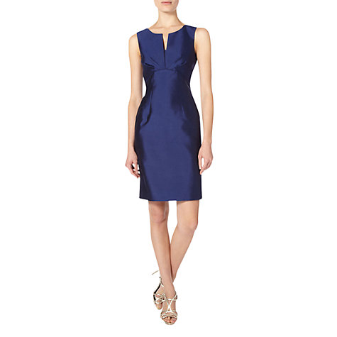 Buy Hobbs Invitation Vienna Dress, Royal Blue Online at johnlewis.com