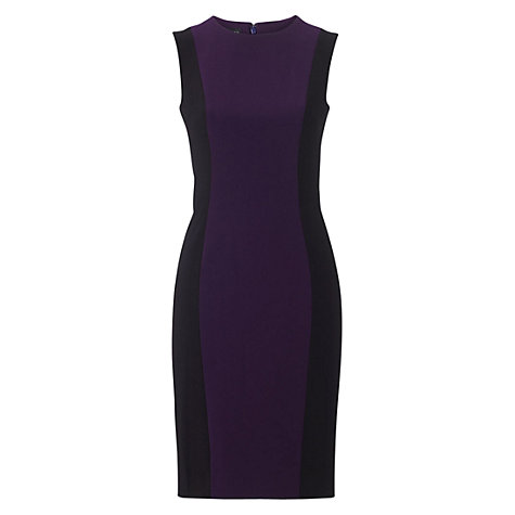 Buy Hobbs Ascot Dress, Dark Purple Online at johnlewis.com