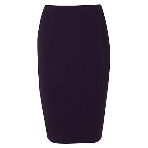 Buy Hobbs Cathy Skirt, Deep Purple Online at johnlewis.com