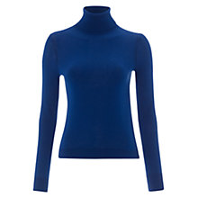 Buy Hobbs Pann Polo Top, Sea Blue Online at johnlewis.com