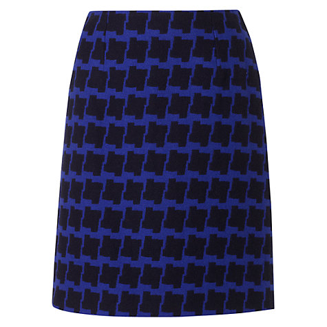 Buy Hobbs Damara Skirt, Sea Blue Navy Online at johnlewis.com