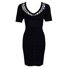 Buy French Connection Dani Dress, Black Online at johnlewis.com