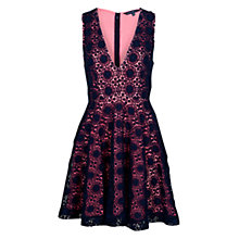 Buy French Connection Elana Dress, Pink/Black Online at johnlewis.com