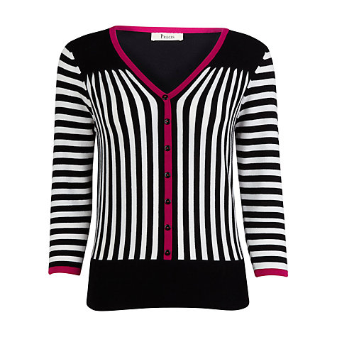 Buy Precis Petite Striped Cardigan, Multi Online at johnlewis.com