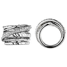 Buy Dyrberg/Kern Wendolyn Silver Plated Swarovski Crystal Cocktail Ring Online at johnlewis.com