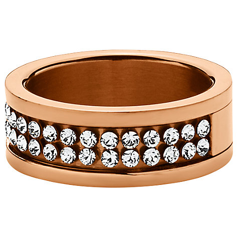 Buy Dyrberg/Kern Fratianne Rose Gold Plated Swarovski Crystal Ring Online at johnlewis.com