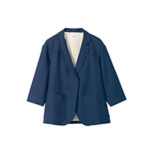 Buy Toast Belle Cotton Blend Textured Jacket, True Navy Online at johnlewis.com