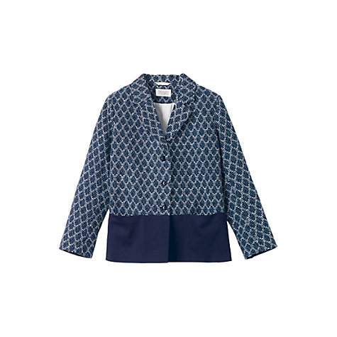 Buy Toast Tuesday Neat Jacket, Indigo/White Online at johnlewis.com